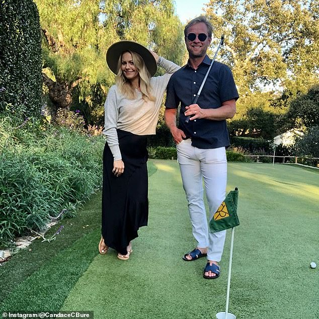 Look of love:Candace said Val can touch her 'any time he wants,' noting that 'this is what a healthy, good marriage and relationship is all about'