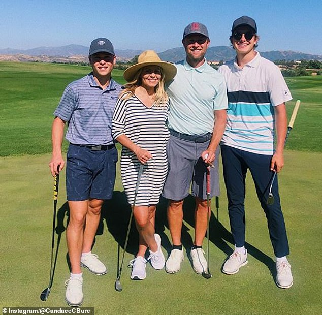 Party of five: Candace and Val have a daughter Natasha (not pictured) and sons Lev (far left) and Maksim (far right)