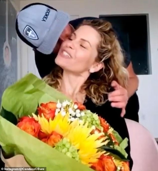 Camera shy: Candace calls Val 'unicorn' because he rarely appears in her photos. In April, she asked him to be in one of he videos as a birthday wish. He gave her a sweet kiss in the clip