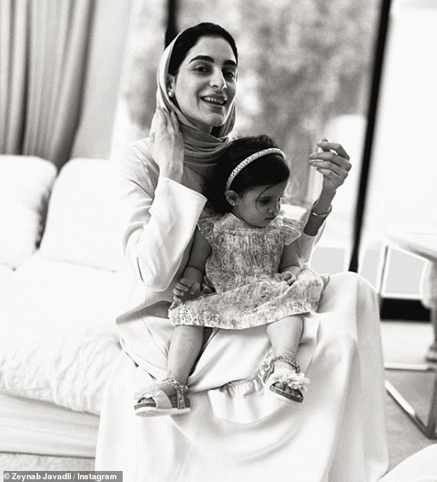 Sheikha Zeynab Javadli (pictured with one of her daughters), the wife of a prominent Sheikh from Dubai's royal family, has posted a harrowing video pleading for help crying that she has been persecuted since leaving him nine months ago