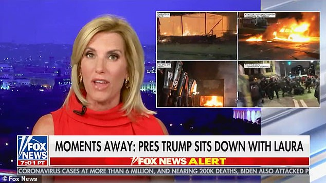 Trump said he also watched 'Laura' – first-name shorthand for Laura Ingraham