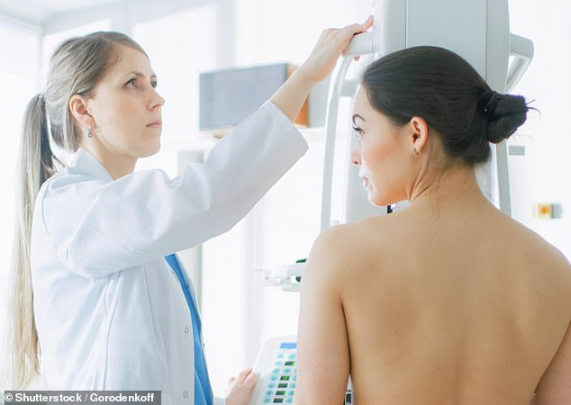 Breast cancer is not just one disease, but several types, which are fuelled by different processes in the body. A woman is seen above having a mammogram [File photo]