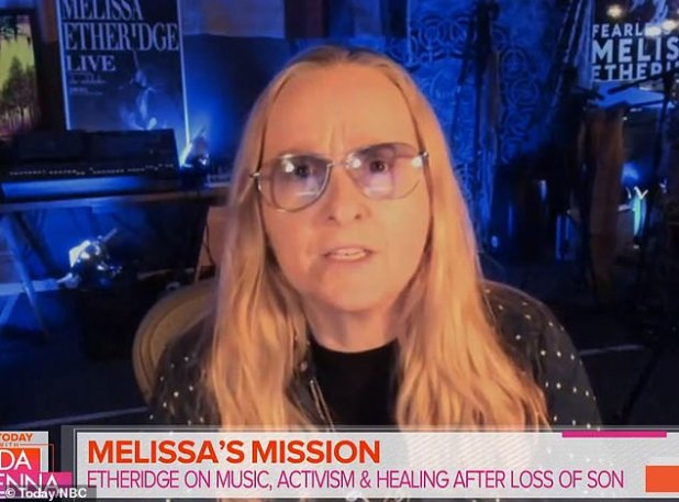 Latest: Melissa Etheridge, 59, appearing on Today with Hoda & Jenna on Thursday, opened up about her son's fatal overdose at the age of 21.  He said that 'Finally, there is a small amount of peace, knowing that he is no longer in pain'.