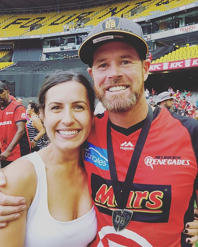 Indigenous cricket star Dan Christian (pictured with his wife Deanna) was the target of racist abuse