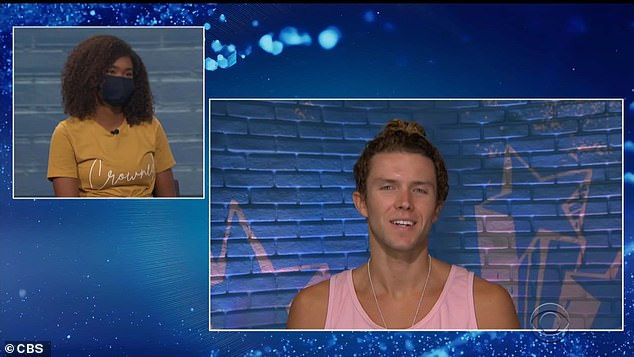 Beef squashed:Bayleigh said she wouldn't have put Christmas and Tyler up even if she'd known, and said that before elimination, she and Tyler had finally 'squashed' an old beef with each other