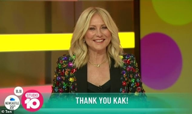 Hitting back:Kerri-Anne, who has never been afraid to share her own controversial opinions, also hit back at critics during her farewell speech