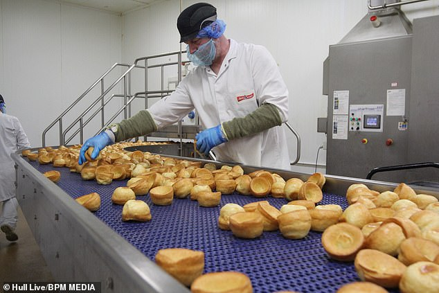The frozen food firm confirmed that a 'small number' of cases at its plant in Hull that employs around 350 people and produces half a billion 'Yorkshires' a year
