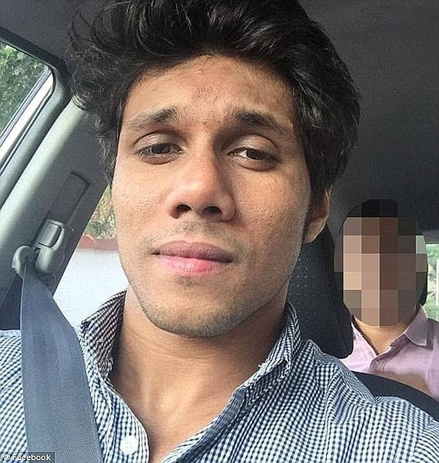 Kamer Nizamdeen (pictured) spent a month in Goulburn Supermax jail after the notebook was found before being released by authorities after charges were dropped