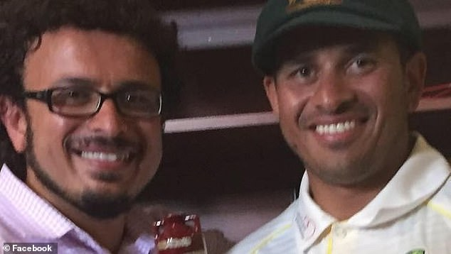 Australian Cricketer Usman Khawaja has staunchly defended his older brother (pictured together) over a messy entanglement with a love rival he falsely accused of plotting a terror attack