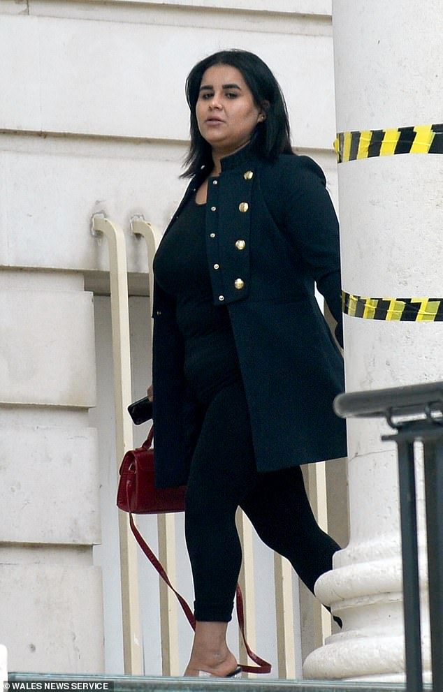 Hajar Al Fahad struck up a conversation on a 160-mile journey with female passenger Fatima Al Shatti from London Paddington to Cardiff. The 26-year-old pretended that she was wealthy before grabbing the blue suitcase as she left the train 'in a moment of madness'