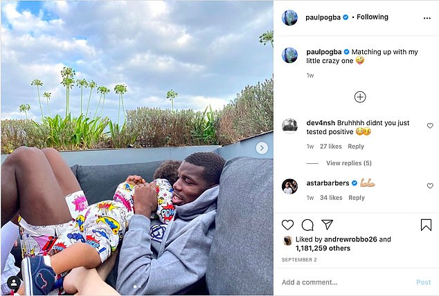 Pogba spent quality time with his family as he missed his international duty