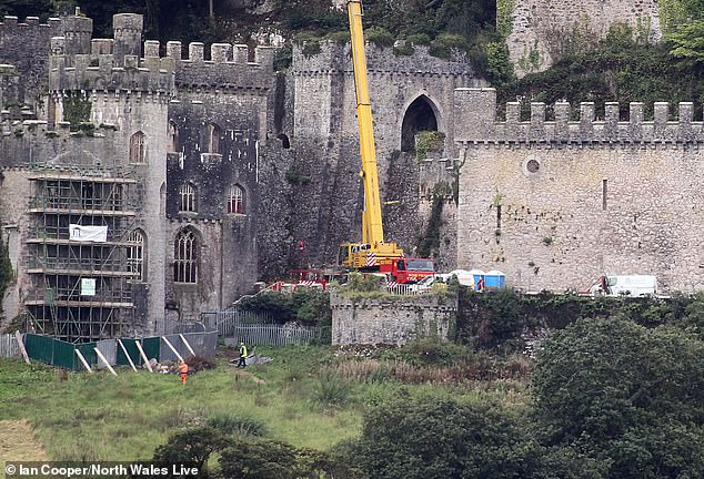 Building: Construction to restore the castle and transform it for the new series began earlier this month, and the pace has now picked up