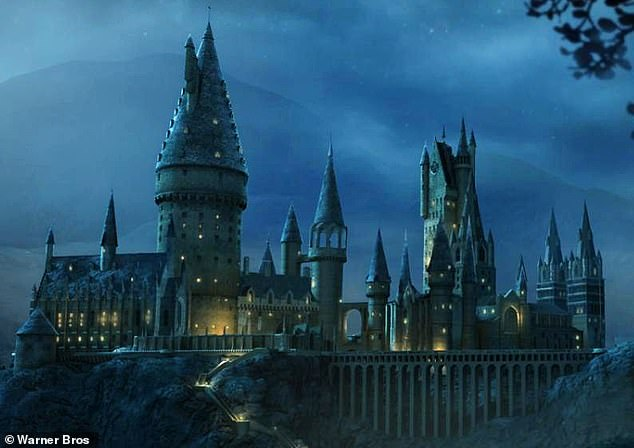 One Weibo, the Chinese equivalent to Twitter, one viewer commented: 'Has Hogwarts finally come to China to recruit students?' Footage ofthe 'floating Hogwarts' has gone viral online