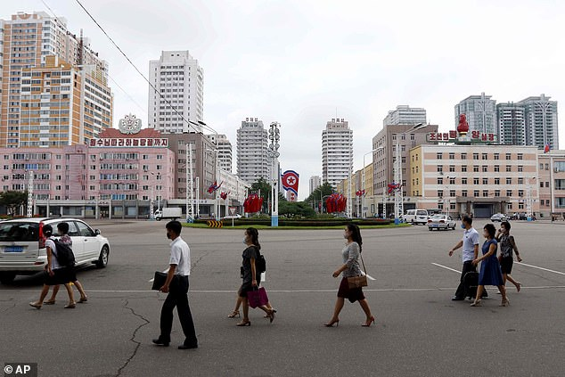 Residents in Pyongyang where the new hospital is being built