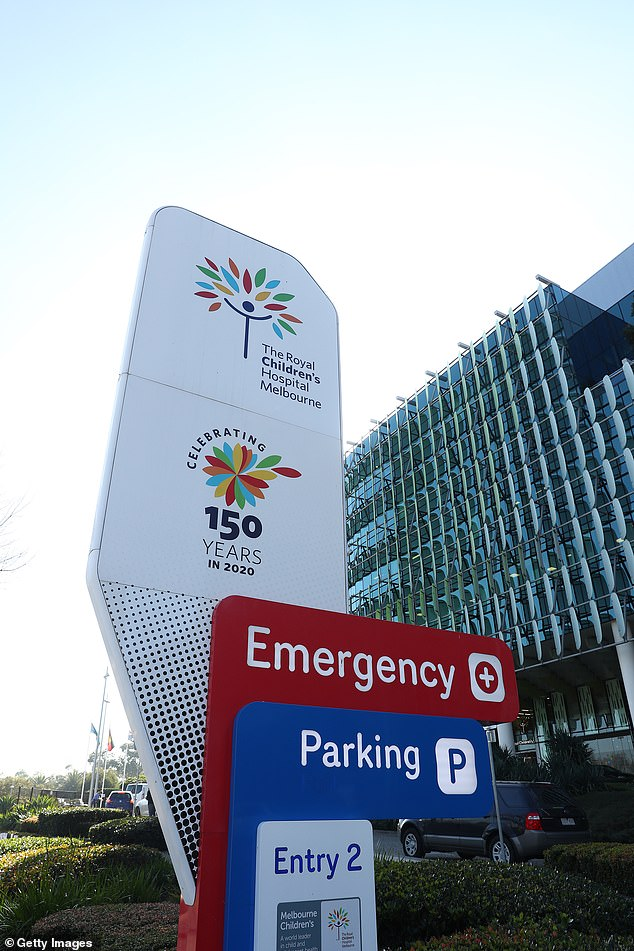 The one-year-old girl was subjected to a strict plant-based diet which eventually landed her in the intensive care unit at Melbourne's Royal Children's Hospital (pictured)