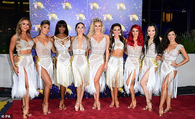 Uh oh:It comes after the hit BBC One dance show was reportedly left in a crisis earlier this week after a former crew member tested positive for coronavirus just days before recording the new series (some of the professional dancers pictured in2019)