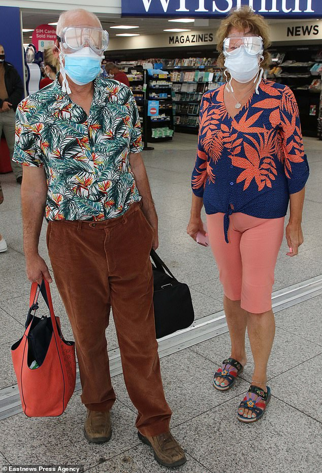 Lorraine Norden , 65, and husband Anthony , 69, were forced to fly back early and were stung for an extra £250. Fearing a packed flight, the couple put on extra PPE to help protect themselves