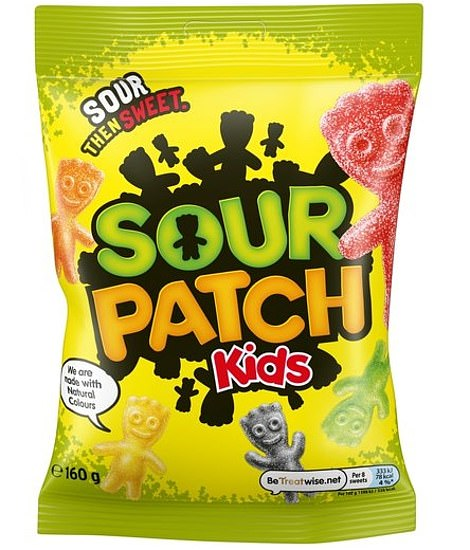 Before going to the hotel Lara stopped to buy three bags of Maynards Sour Patch Kids sweets for Nadia and the two footballers