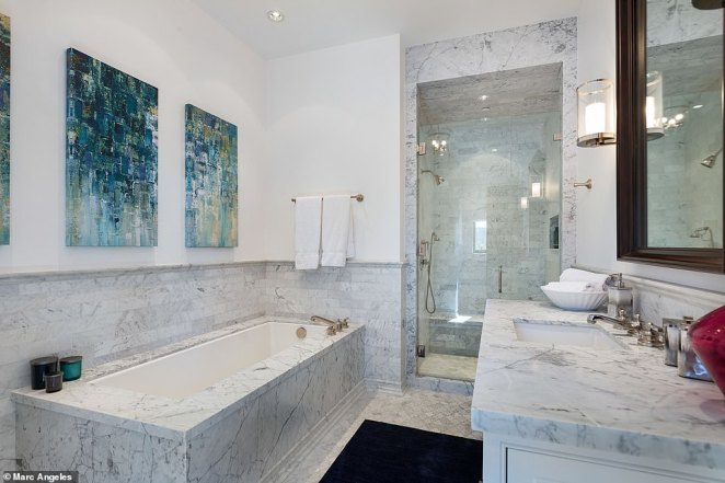 Each of the eight bedrooms in the home all have their own en suite bathroom, making the space perfect for guests
