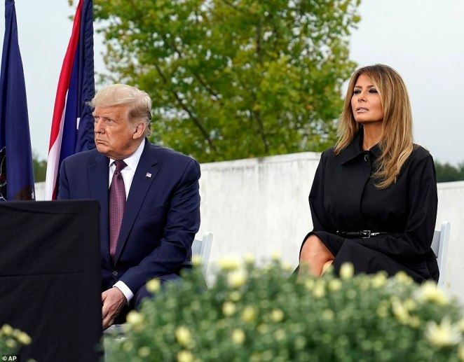 The Trumps marked 9/11 in Shanksville in 2018 and spent the 2017 and 2019 anniversaries at the Pentagon
