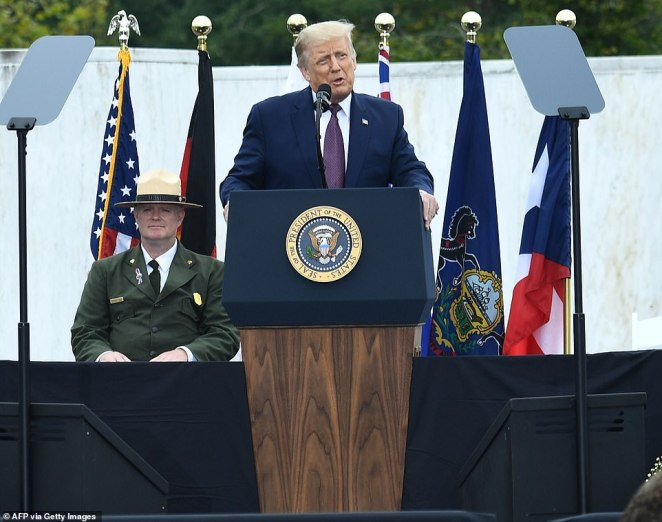 The president paid tribute to the 40 Americans who died on United Flight 93 when they brought down the plane in a field in Shanksville, Pennsylvania before al-Qaeda hijackers could reach Washington