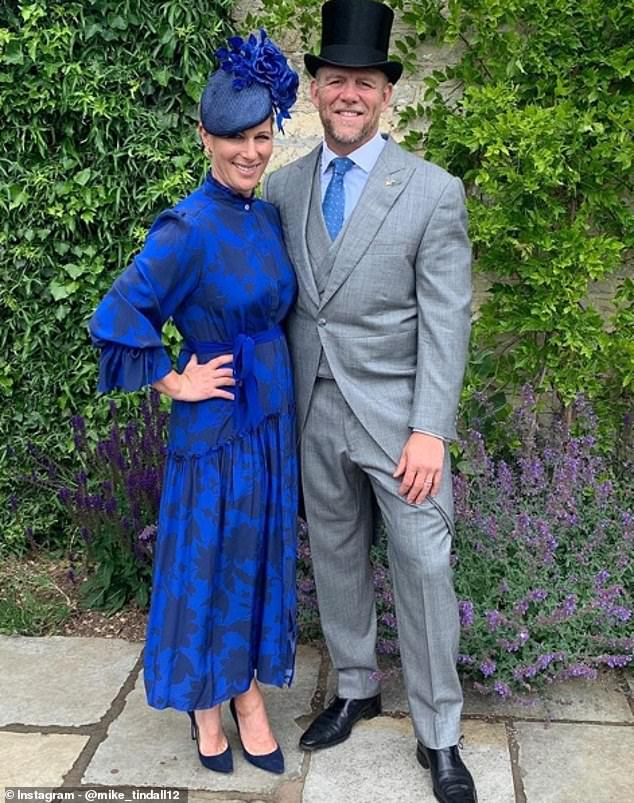 They're regular faces at Cheltenham Festival and Royal Ascot, but this year the couple marked the event from their home in Gloucestershire during lockdown (pictured)