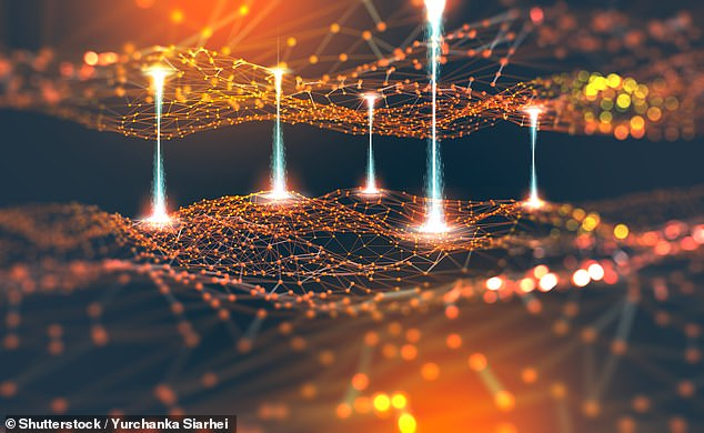 The universe could be a neural network — an interconnected computational system similar in structure to the human brain — a controversial theory has proposed (stock image)
