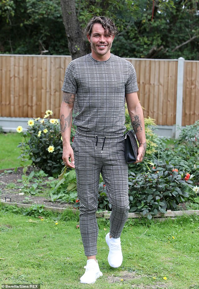 Dapper: Bobby Norris meanwhile showed off his fashion credentials in a grey checked co-ord