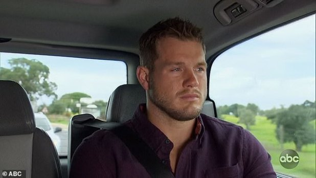 Difficult to take: It is not yet known whether a judge has signed Randolphs paperwork to order a ban.  DailyMail.com has reached out to Coulton's representative for comment, but did not immediately hear back;  Here Colton the Bachelor is seen crying