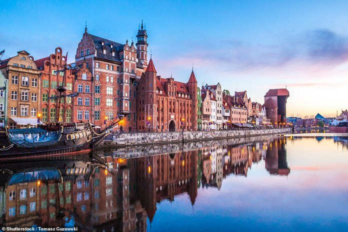 In Poland, Covid cases remain low. Gdansk, pictured, Krakow and Warsaw are great options for a city break
