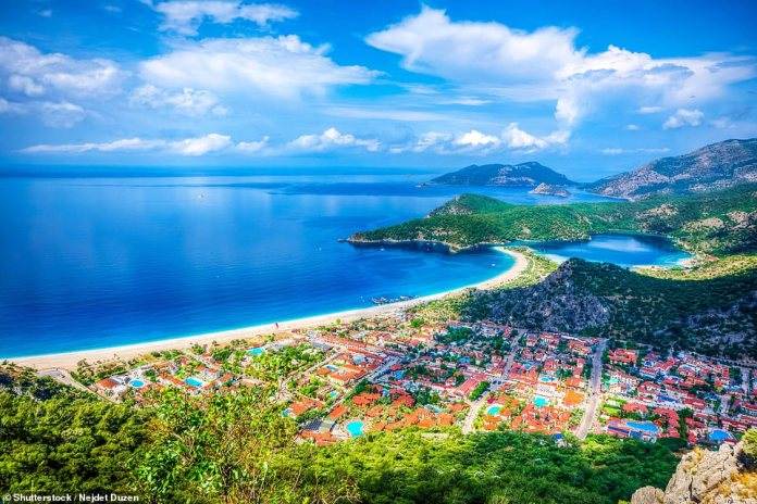 The Gulf of Fethiye, pictured, is the Turkish Mediterranean's most scenic stretch of coast