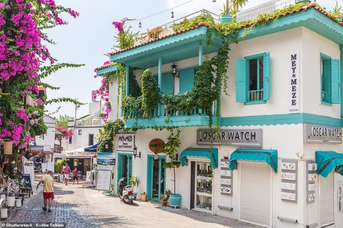 The resort of Kaş, where shaded lanes scented with jasmine tumble past rug shops and garden restaurants