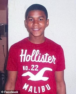 Pictured: Trayvon Martin, a black American teenager who was shot dead by George Zimmerman