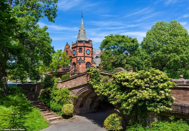 Gentle charms: The Wirral has many pretty diversions, including Port Sunlight village