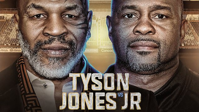 The bout will see former world heavyweight champion Tyson's big return to the ring after 15 years out and Jones has been a longtime fans' favorite after becoming the first middle-weight champ in over 100 years to win the heavyweight title as well