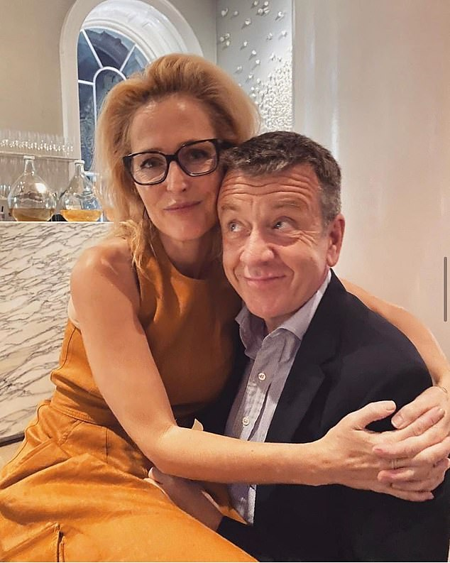 Things must be getting serious for Sex Education star Gillian Anderson and The Crown scriptwriter Peter Morgan. For, in that modern rite of passage, the actress, 52, has posted online her first photograph cosying up with the celebrated screenwriter, 57, with whom she's been living since the start of lockdown