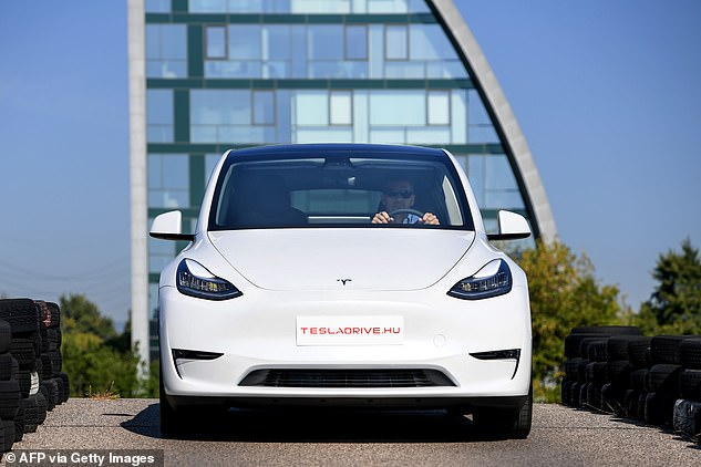 Tesla first unveiled its Model Y last year and began shipping the vehicle to customers last March.  The car seats seven adults, with an optional third row in the rear, and would go from zero to 60 miles per hour in just 3.5 seconds