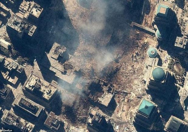 IKONOS took another image on 15 September, giving the world a closer look at ground zero, which was nothing more than debris and dust