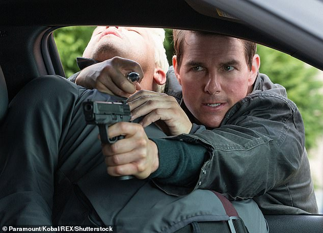 Grant has become a multi millionaire on the success of his Jack Reacher series which has been made into a Hollywood movie by Tom Cruise, pictured in the 2016 film Never Go Back