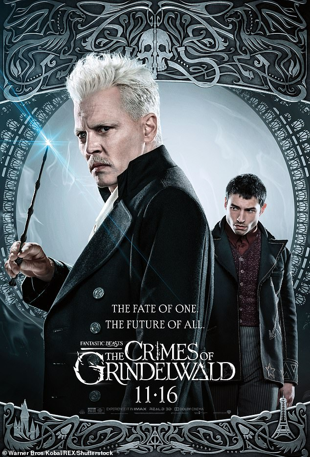 Gellert: Depp is slated to return as Gellert Grindelwald, who was teased in a brief cameo in 2016's Fantastic Beasts and Where to Find them, before his starring role in 2018's Fantastic Beasts: The Crimes of Grindelwald