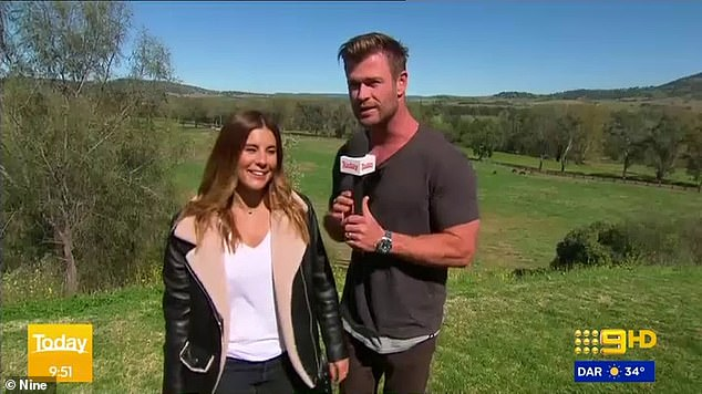 'Get your brollies out I reckon!' Thor star Chris Hemsworth made a surprise appearance on Weekend Today on Saturday