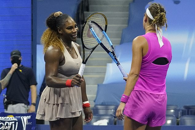 On Thursday, Azarenka came back from a one-set deficit to topple 23-time Grand Slam winner and fellow mother Serena Williams (pictured) 1-6 6-3 6-3 to win the semi final of the US open