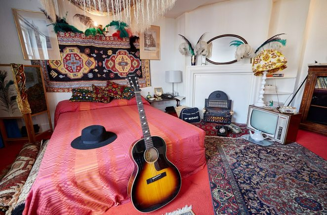 House of rock:Visitors can look around Jimi Hendrix's restored bedroom in Mayfair complete with overflowing ashtrays and his vinyl record collection