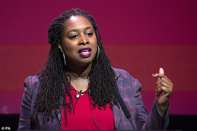 Officers were accused of racial profiling after British athlete Bianca Williams and Labour MP Dawn Butler (above) were stopped on separate occasions by officers during traffic incidents