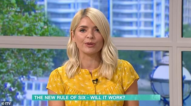 New rules:Her post comes after Holly lamented the new 'six person rule' as England prepares to face updated coronavirus restrictions on Monday following a spike in infections