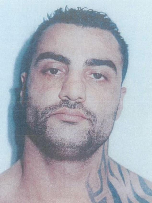 These photos were taken in April 2009, after Hawi, then 28, handed himself in after a Comanchero-Hells Angels gang brawl at Sydney Airport in which a man was beaten to death