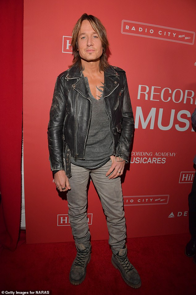 'I still have a little PTSD': Keith Urban (pictured in January 2018), 52, recalled the struggle of being locked down in Nashville for three months amid the coronavirus pandemic, in an interview with Australian newspaper The Sunday Telegraph's Stellar magazine