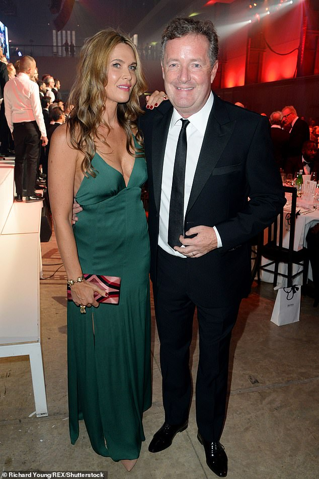 Rules:  Speaking about his new diet, Piers - who is married to journalist Celia Walden (pictured together in 2018)- said: 'I'm going to see a new personal trainer, and unfortunately Celia's taken it all quite seriously'