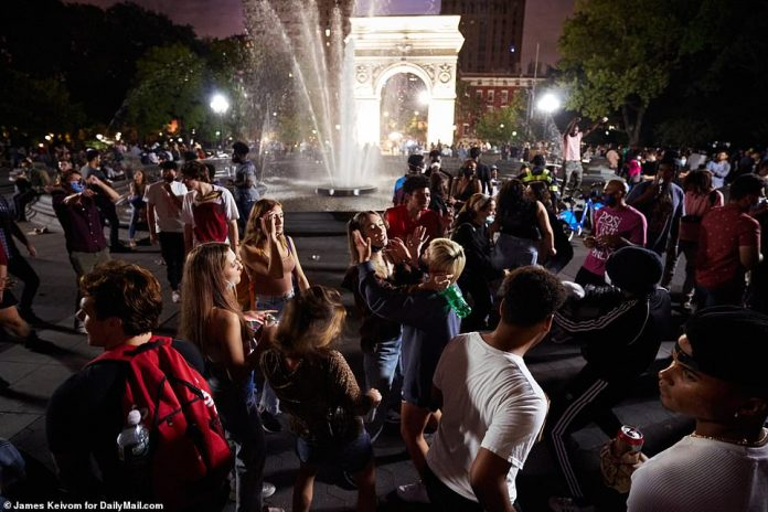 On Friday night, the throngs of revelers danced and twerked late into the night in Washington Square Park