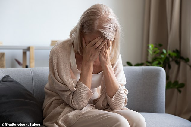 The menopause isn't just about the physical symptoms. There's anxiety, guilt, the loss of confidence that comes with the first sign we're leaving our youth behind (file photo)